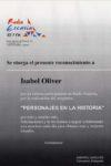 Diplomas concedidos a Isabel Oliver González y a Celestino Álvarez-Cienfuegos