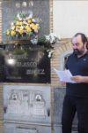 Ante la tumba de Blasco Ibáñez