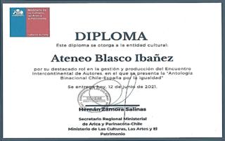 Reconocimiento del Ministerio de Cultura de Chile